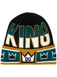 Dolce And Gabbana 'King' Beanie Black