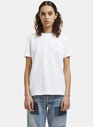 Acne Studios Taline Face Crew Neck T Shirt White