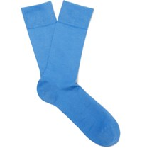 Falke Cool 24 7 Stretch Cotton Blend Socks Blue