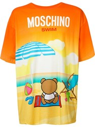 Moschino Beach Teddy T Shirt Yellow Orange