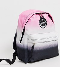 Hype Dual Speckle Backpack In Black And Pink Multi