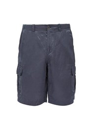 Sies Marjan Elias Washed Satin Cargo Shorts Blue