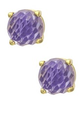 Mistraya Jewelry Tanzanite Quartz Gumdrop Stud Earrings No Color