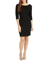 Phase Eight Helene Heat Fix Shift Dress Black