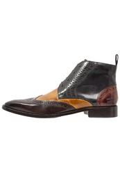 Melvin And Hamilton Jeff Laceup Boots Classic Dark Brown Navy Wood