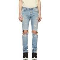 Unravel Blue Dirty Distressed Skinny Jeans