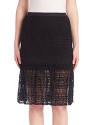 Elie Tahari Skye Lace Skirt Black