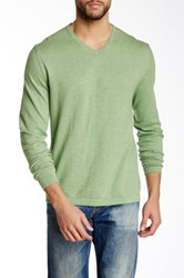 Weatherproof V Neck Sweater Green