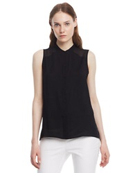 Kenneth Cole Helena Sleeveless Blouse Black