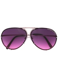 Porsche Design Round Frame Sunglasses Pink Purple