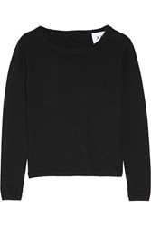 Banjo And Matilda Manhattan Open Back Cotton Blend Sweater Black
