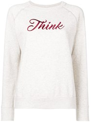 Etoile Isabel Marant 'Think' Embroidered Sweatshirt Women Cotton Polyester 36 Nude Neutrals