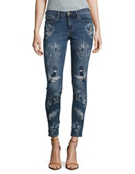 Buffalo David Bitton Faith Embroidered Skinny Jeans Multi