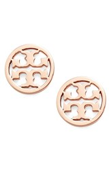 Women's Tory Burch Circle Logo Stud Earrings