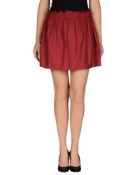 Sakura Mini Skirts Maroon