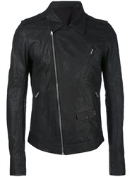 Rick Owens Stooges Biker Jacket Men Cotton Calf Leather Cupro 46 Black