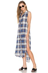 Bishop Young Plaid Tunic Tank Dress Blue