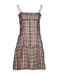 Met Short Dresses Brown