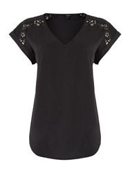 Therapy Lola Lace Shoulder Top Black