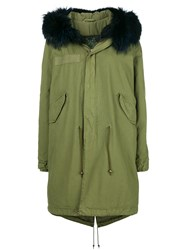 Mr And Mrs Italy Fur Collar Parka Coat Green