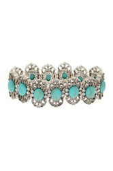 Stephan And Co Stretch Filigree And Stone Bracelet Blue