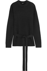 Joseph Belted Cashmere Sweater Black
