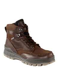 Ecco Track Ii High Leather Ankle Boots Copper
