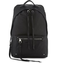 Mcq By Alexander Mcqueen Loveless Leather Backpack Black