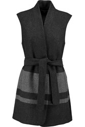 Vince Two Tone Wool Blend Gilet Gray
