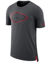 Nike Men's Kansas City Chiefs Travel Mesh T Shirt Anthracite Red