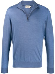Hackett Zipped Elbow Patch Pullover 60