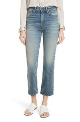 Vince High Waist Straight Leg Jeans O Keefe Wash