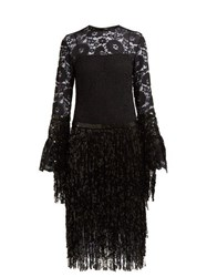 Romance Was Born Disco Dame Sequin And Lace Dress Black