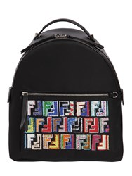 Fendi Nylon Backpack W Sequins Logo Black