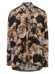 Numph Bea Abstract Print Shirt Misty Rose