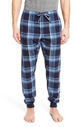 Ralph Lauren 'S Flannel Pajama Jogger Pants Aspen Plaid Crescent Cream