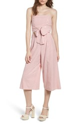 Everly Strapless Cutout Jumpsuit Pink