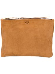 Caravana Chimalma Clutch Bag Calf Leather Brown