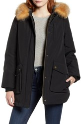 Pendleton Dawson Genuine Fur Trim Down Coat Black