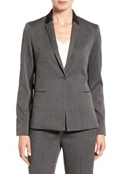 T Tahari Women's 'Nima' Colorblock Herringbone One Button Jacket