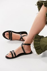 Urban Outfitters Cleo Wrap Sandal Black
