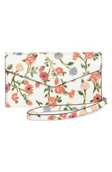 Kate Spade New York Mini Bloom Iphone X Faux Leather Envelope Wristlet Pink Cream Multi