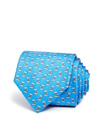 Bloomingdale's The Men's Store At Palm Tree Isle Classic Tie Blue
