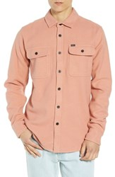 Obey Outpost Flannel Shirt Jacket Rose