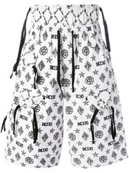 Ktz Monogram Shorts White