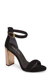 Kenneth Cole Women's New York Deborah Sandal Black Pewter Suede