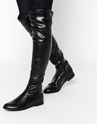 Blink Michelle Flat Over The Knee Boots Black