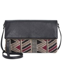 Styleandco. Style Co. Nikkoll Woven Crossbody Only At Macy's Black Blanket