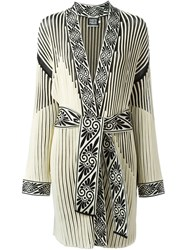 Fausto Puglisi Ribbed Robe Coat Black