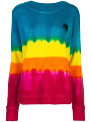The Elder Statesman Oversized Tie Dye Jumper Multicolour